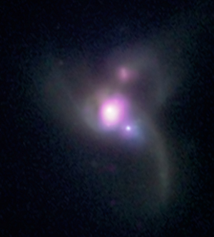 X-ray & optical composite image of SDSS J0849+1114