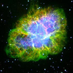 Optical image of Crab Nebula