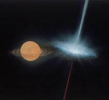 Artist's impression of an X-ray binary system