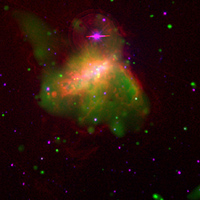 NGC 1569 X-ray/Optical Composite