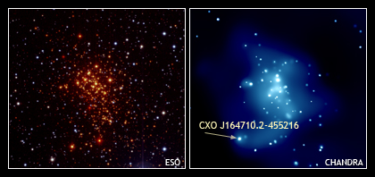 Optical & X-ray Images of Westerlund 1